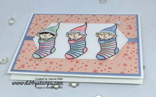 Three Little Elves Card flat