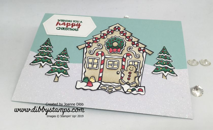 Yummy Christmas Gingerbread House card -flat