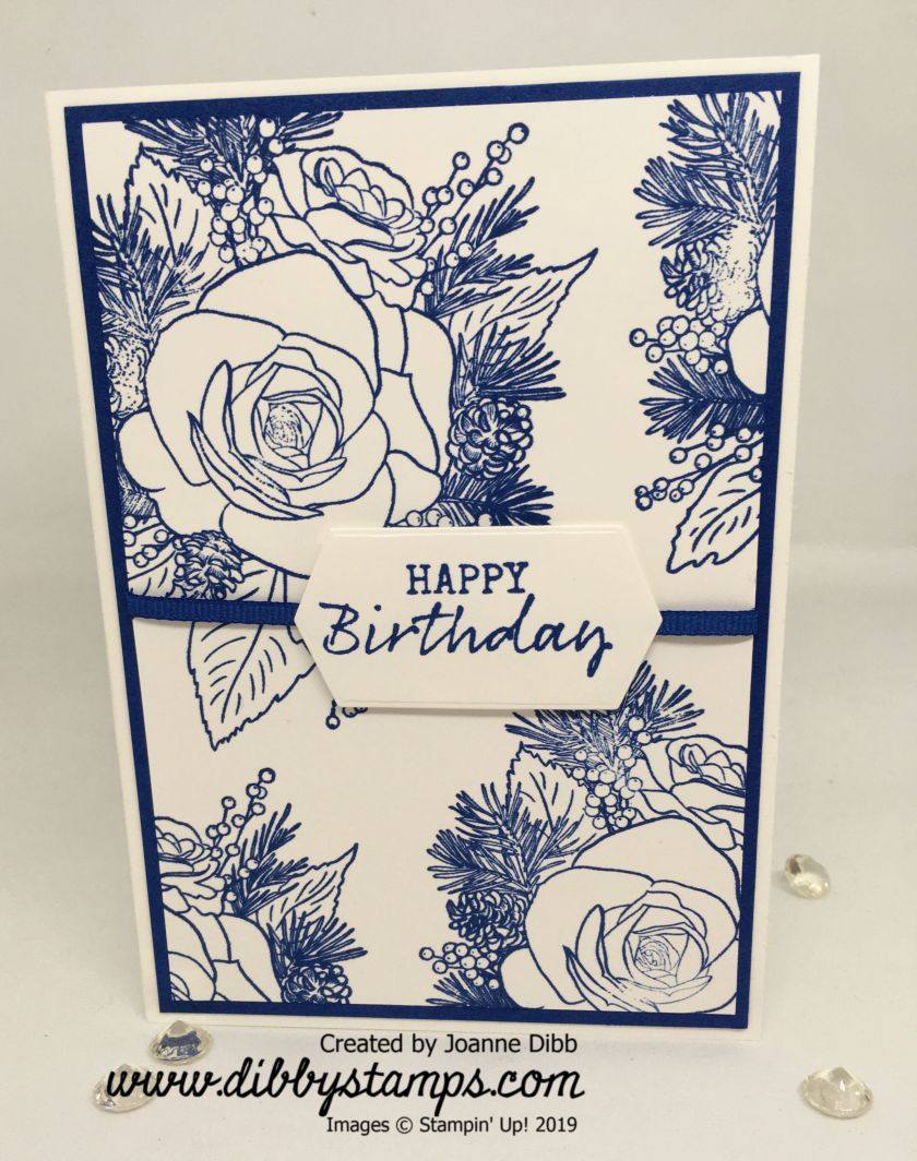 Christmas Rose Blueberry Bushell Birthday Card