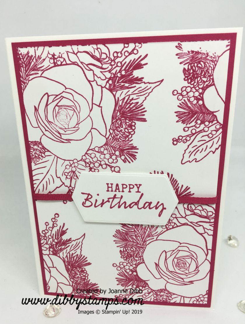 Christmas Rose Lovely Lipstick Birthday Card