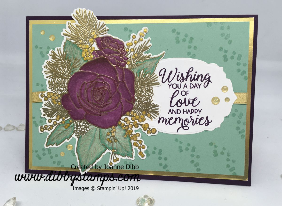 Floral Friday: Christmas Rose Wedding Card