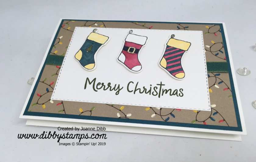 Christmas Sticking Card - flat