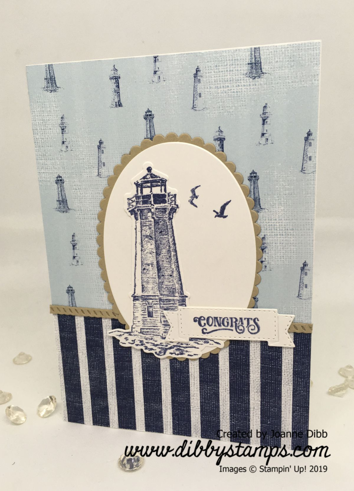 Congrats Lighthouse Card