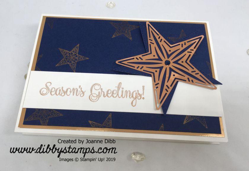 Copper Shining Star Card - flat