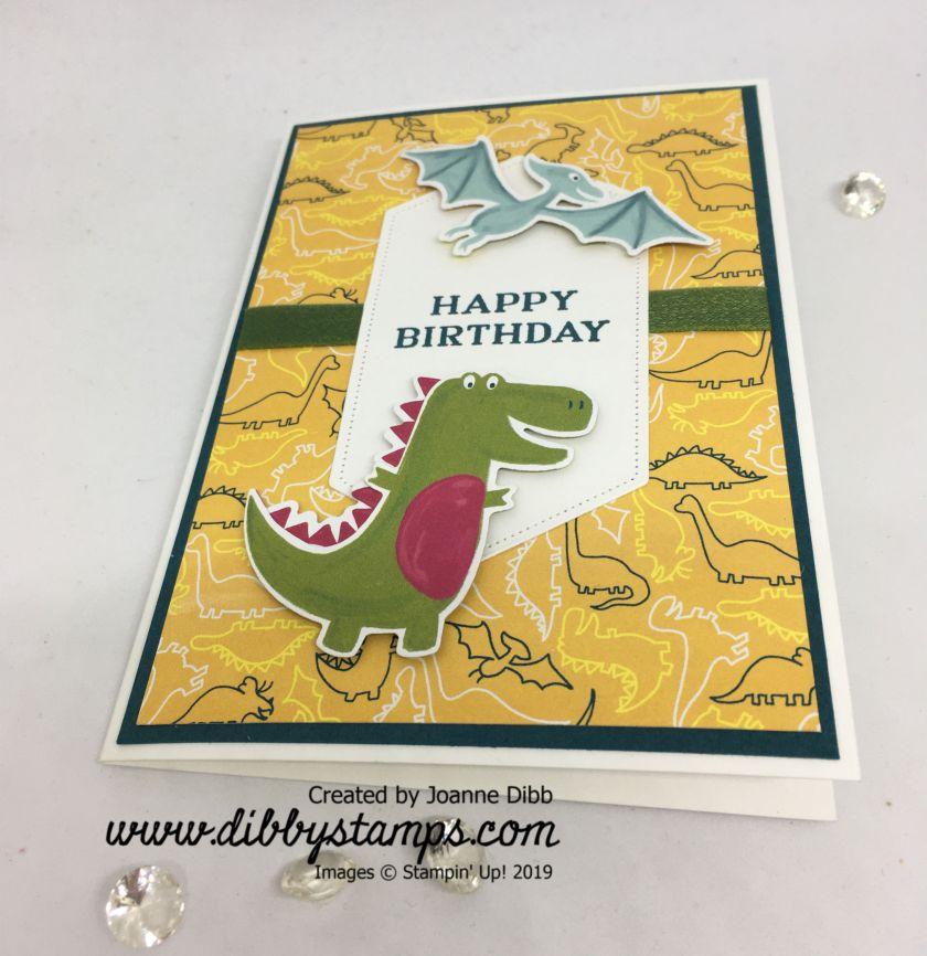 Dino Diecut Card - flat
