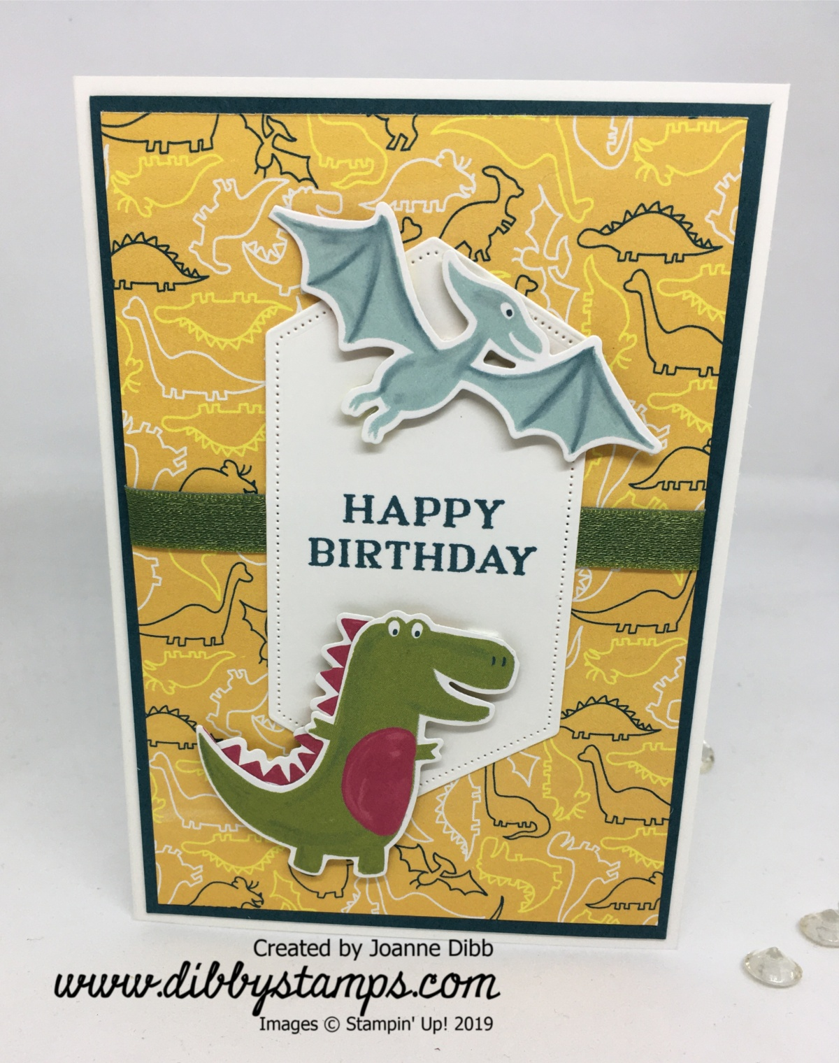 Dino Diecuts Card