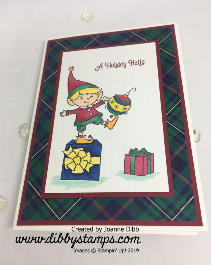 elfie holiday hello card - flat