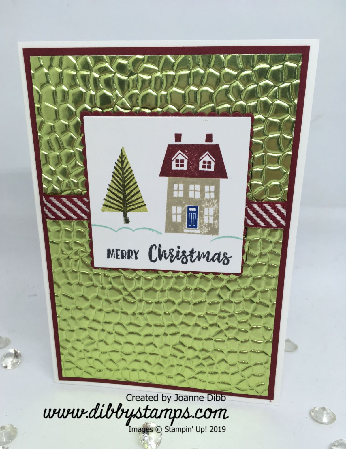 Simple Foiled Merry Christmas Card