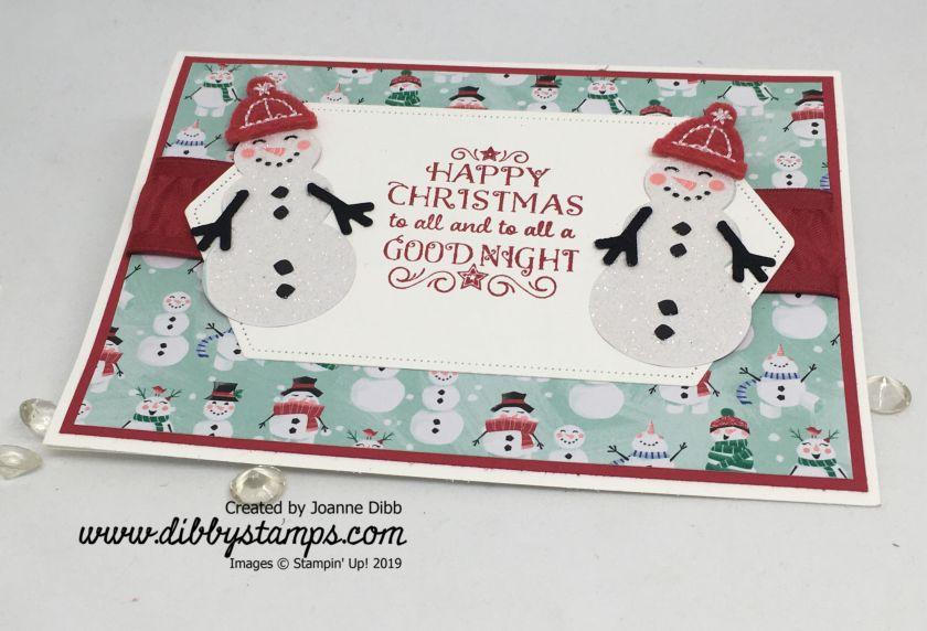 Glitter Snowmen Card - flat