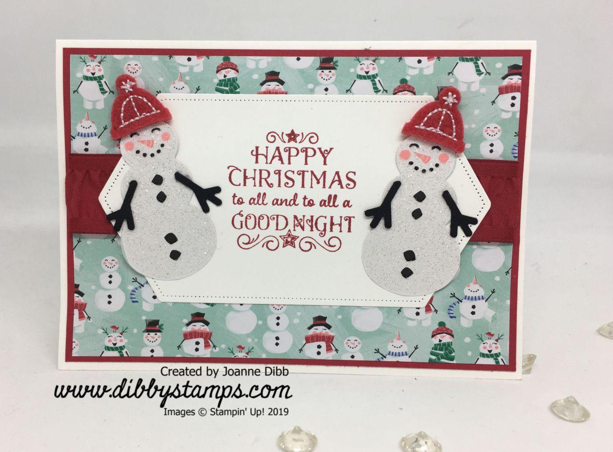 Glitter Snowmen Card