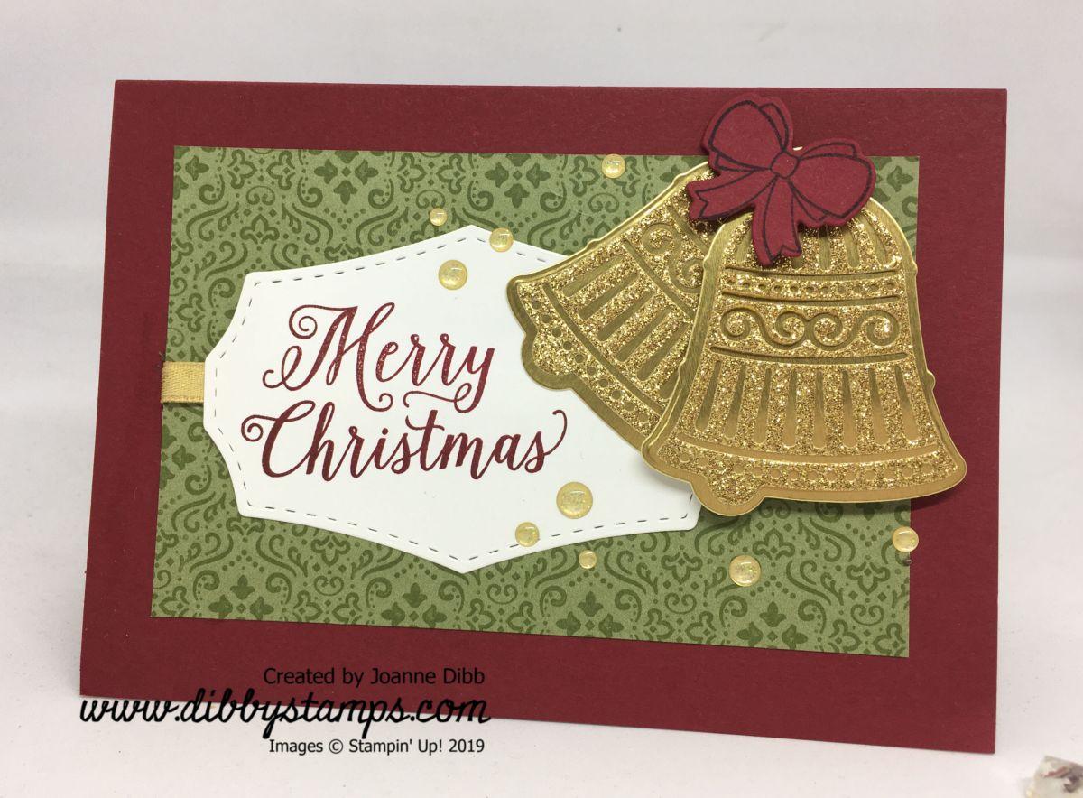 Gold Christmas BellsCard