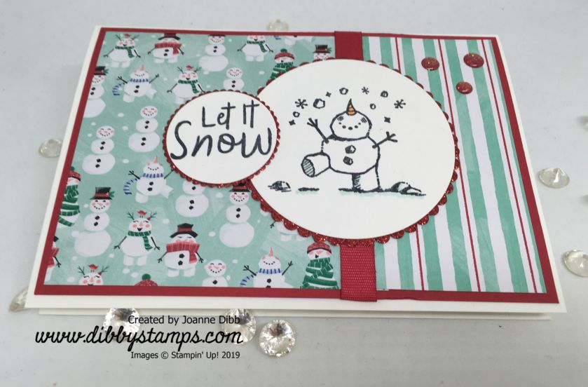 Let It Snow-Man Card - flat