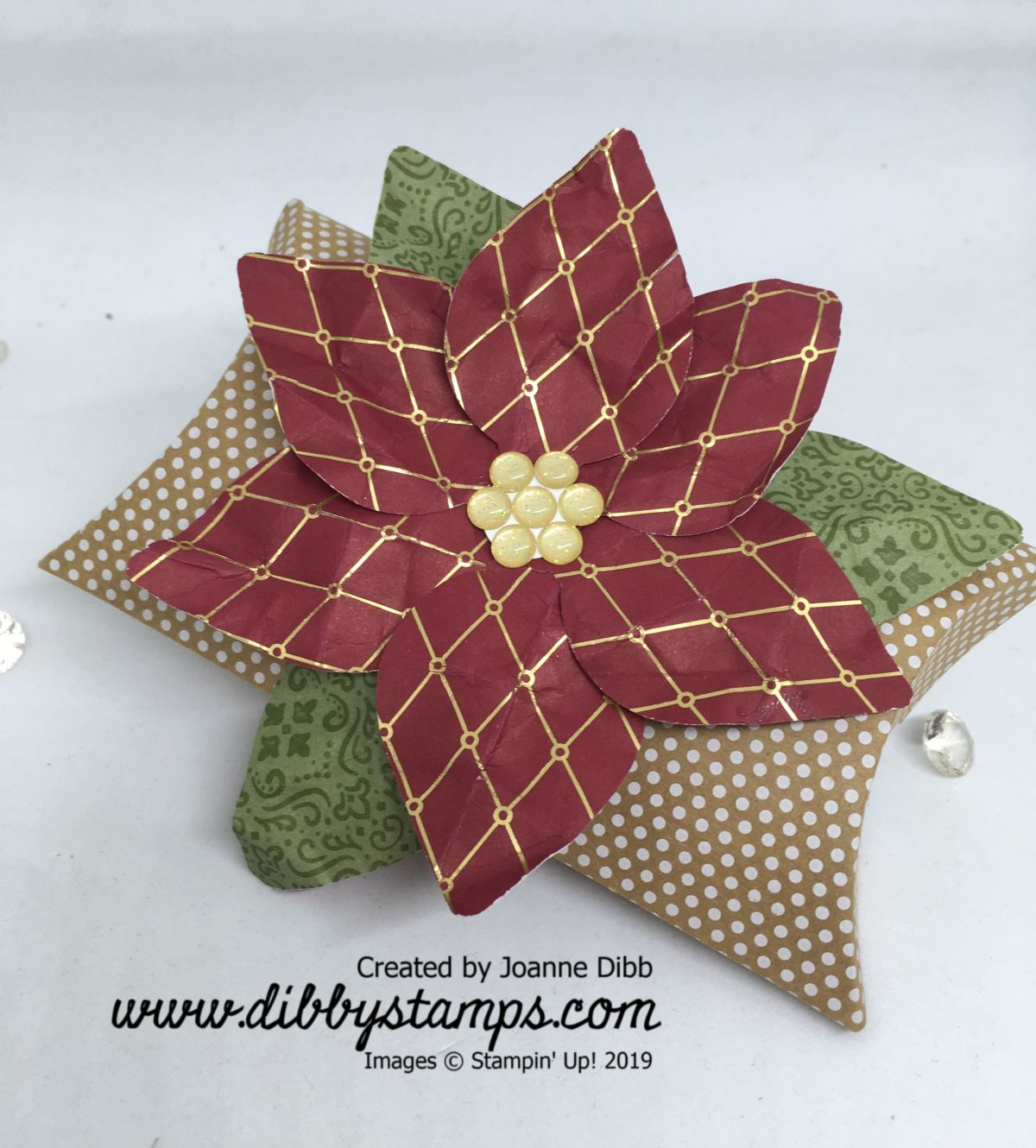 Poinsettia Pillow Box