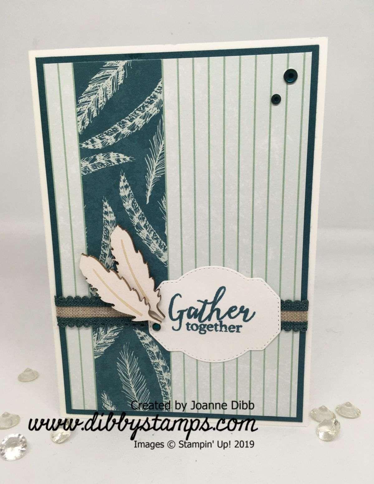 Pretty Peacock Gather Together Card