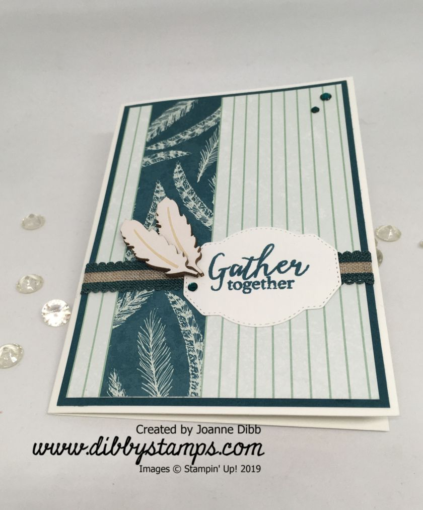 Pretty Peacock Gather Togther Card - flat