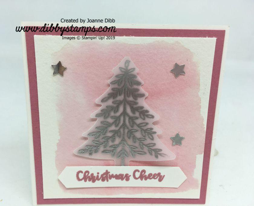 Rococo Rose & Silver Tree Card