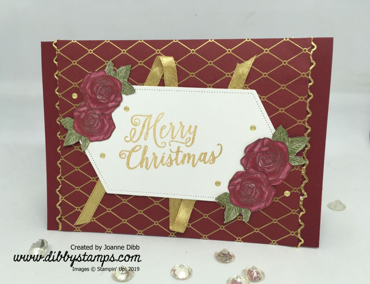 Roses & Ribbon Christmas Card