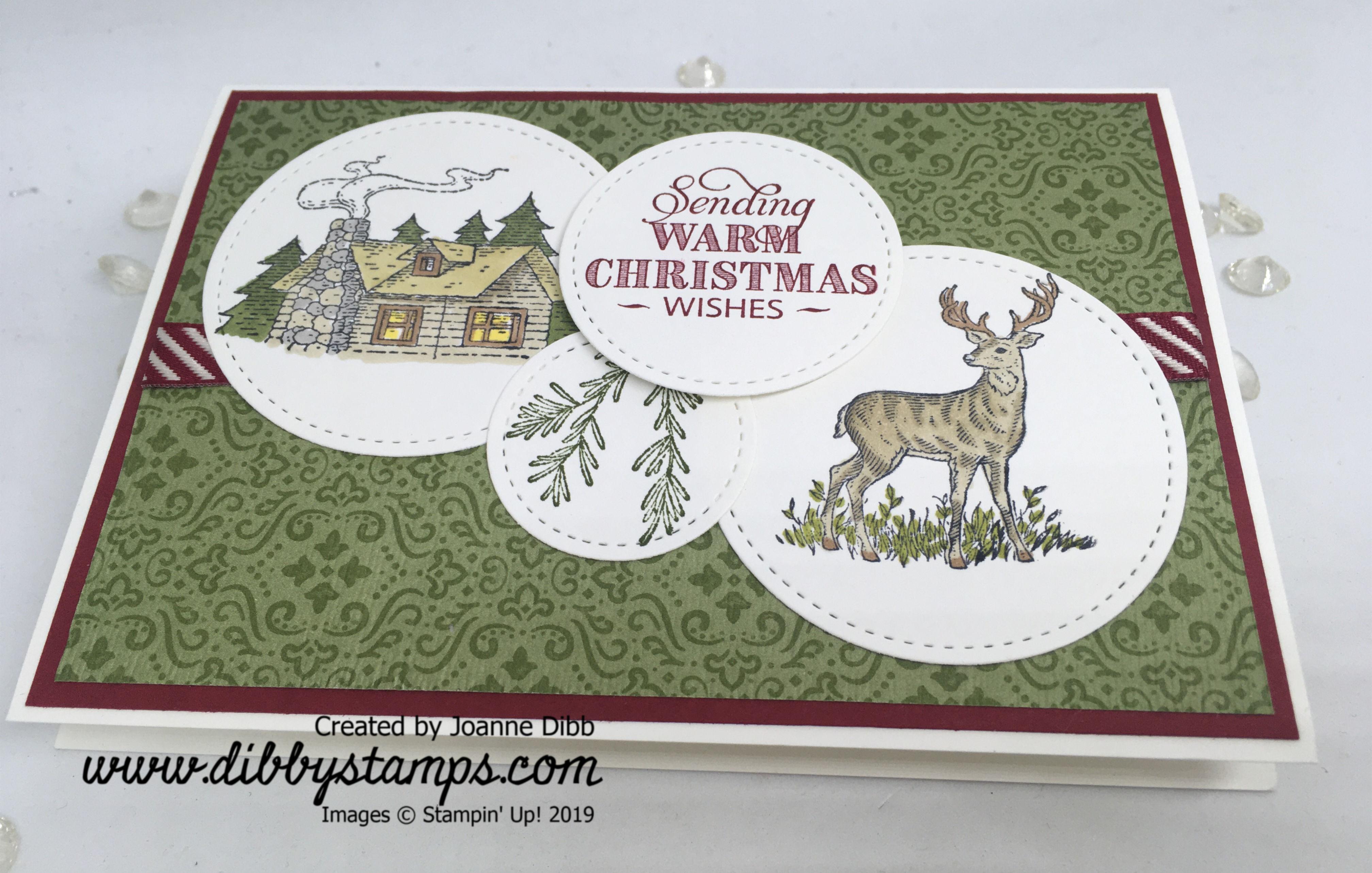 Rustric Retreat Christmas Card - flat