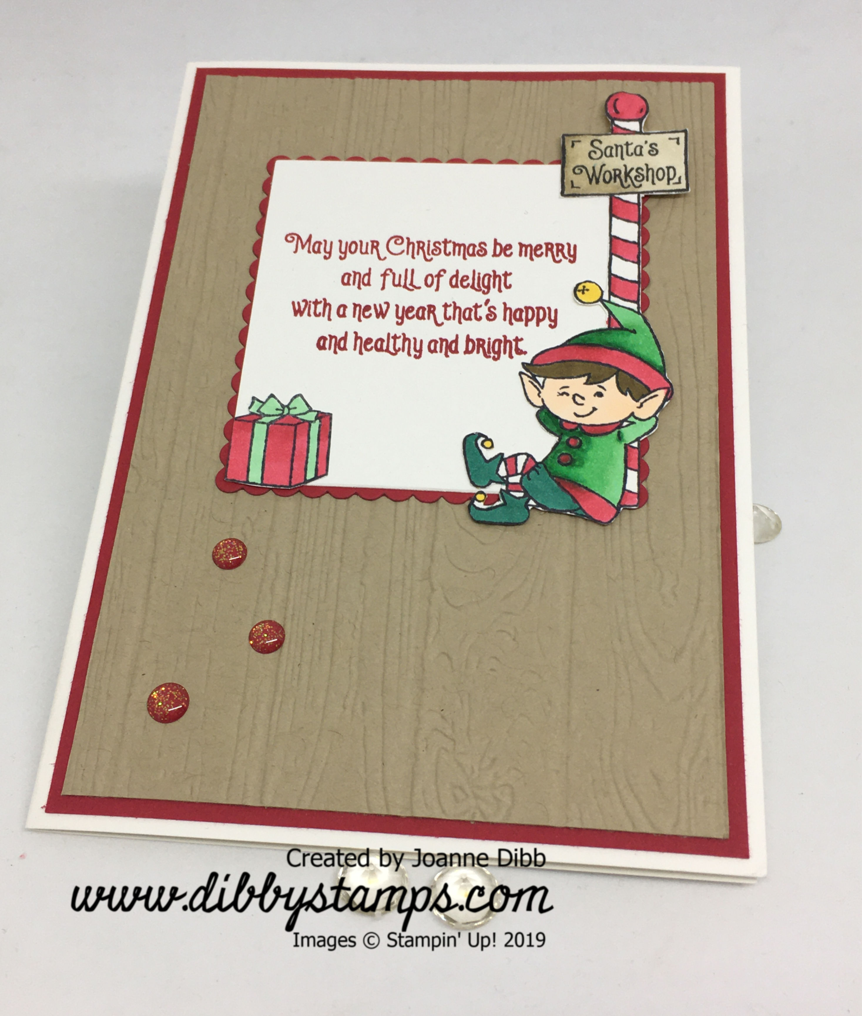 Santa's Workshop Elf Card - flat