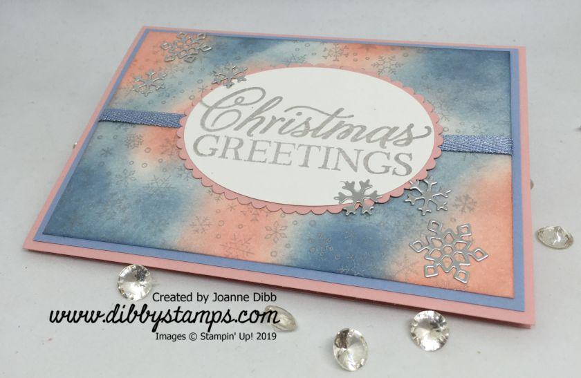 Shimmery Silver Snowflake Card - flat