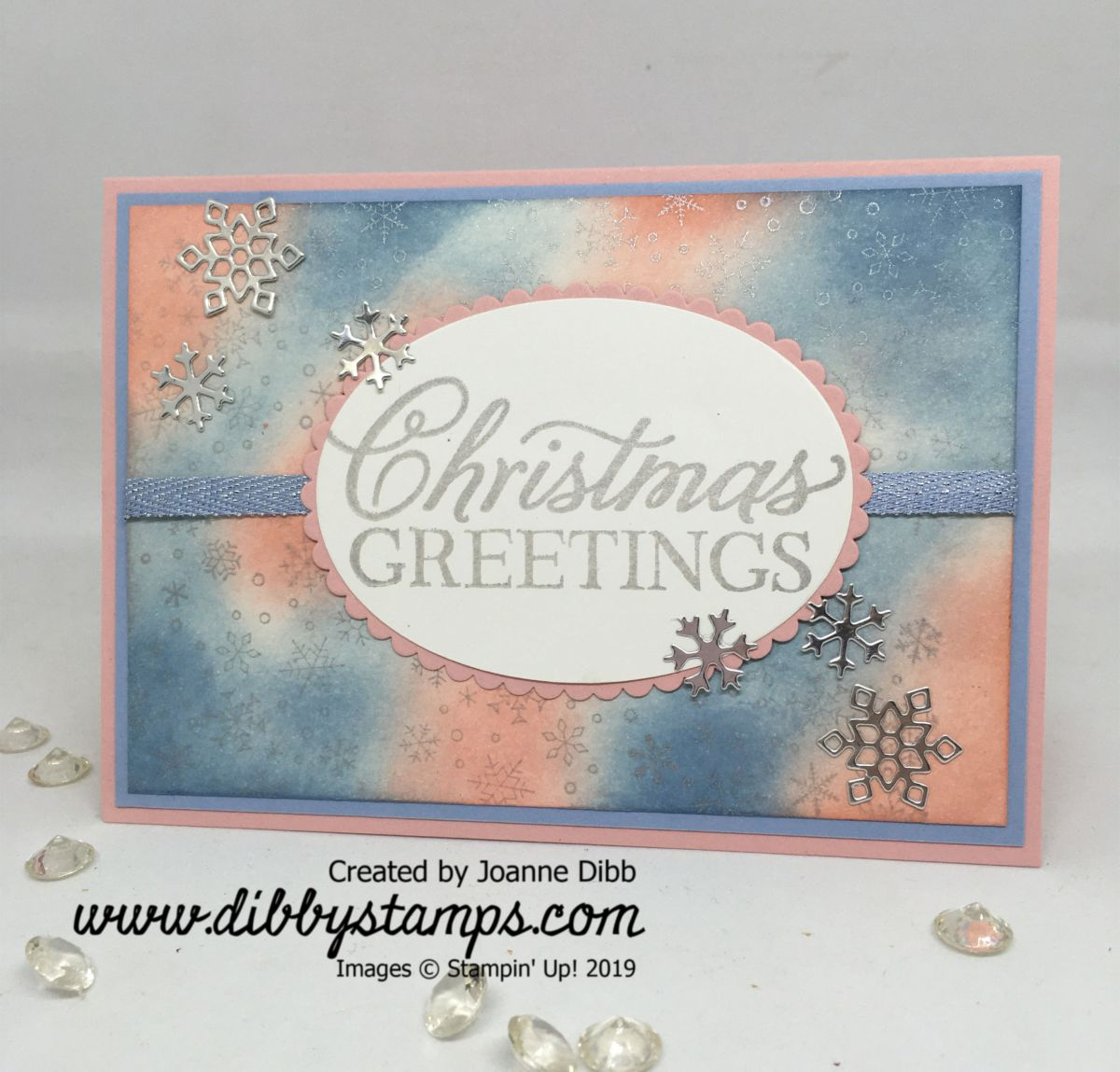 Shimmery Silver SnowflakeCard