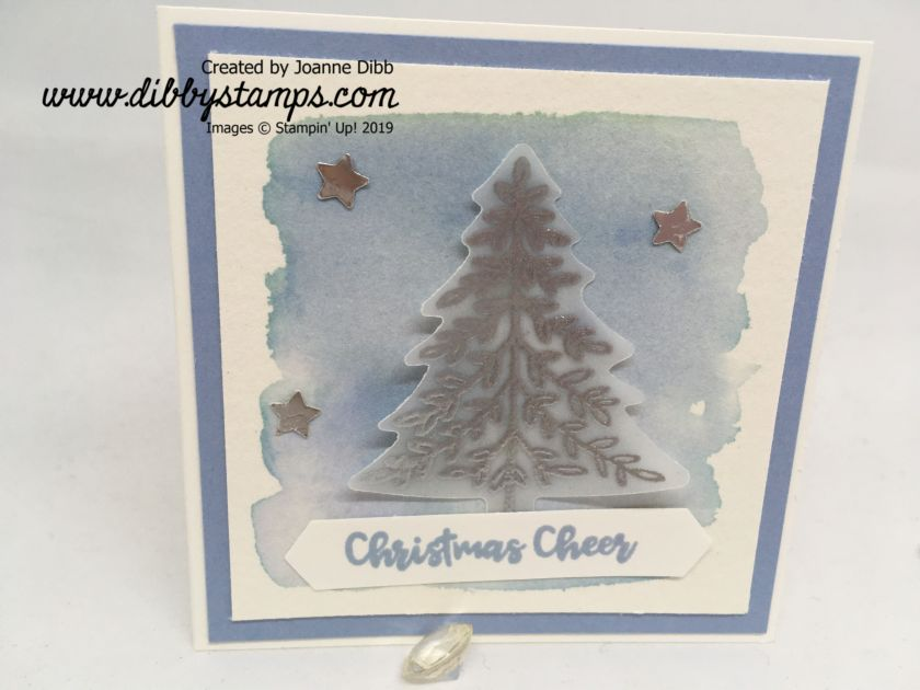 Silver & Seaside Spray Tree Card