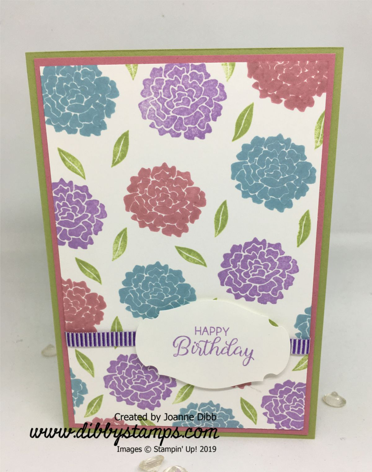 Simple Birthday Card With Beautiful Bouquet