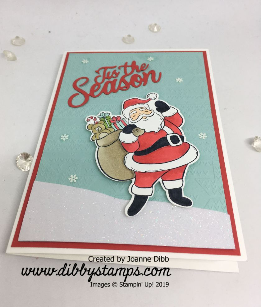 Tis the Season Santa card - flat