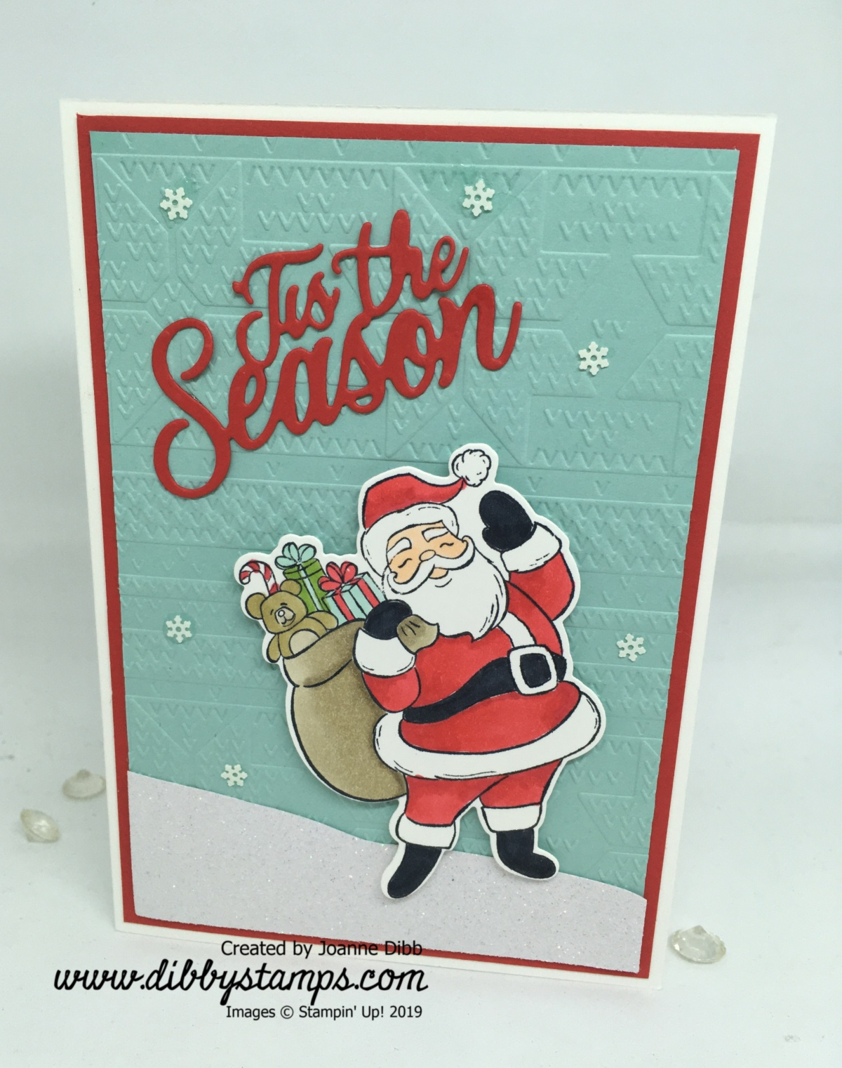 Tis the Season for Santa Christmas Card