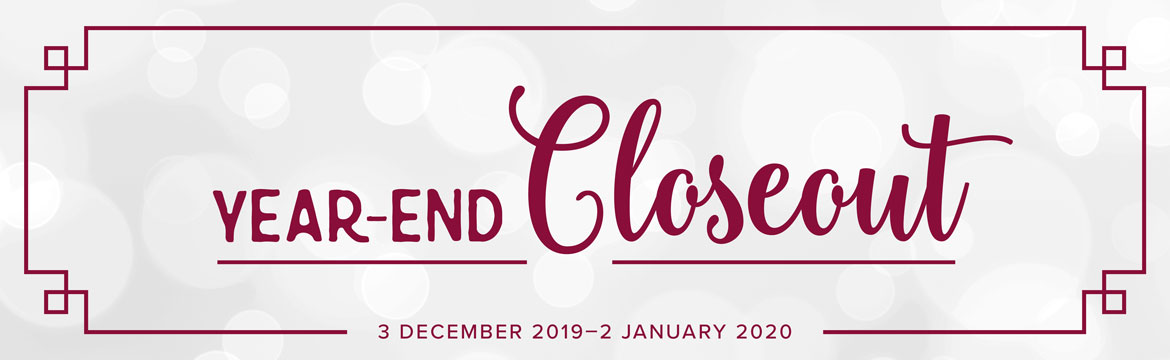 Year-End Close Out Sale Starts Today!!
