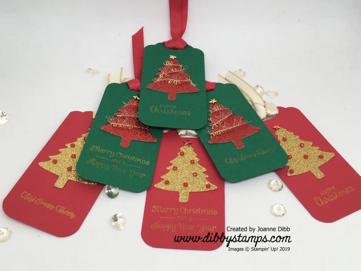 Glitter Christmas Tree Tags