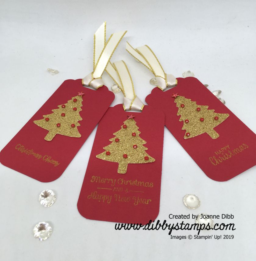 Real Red Christmas Tree Tags