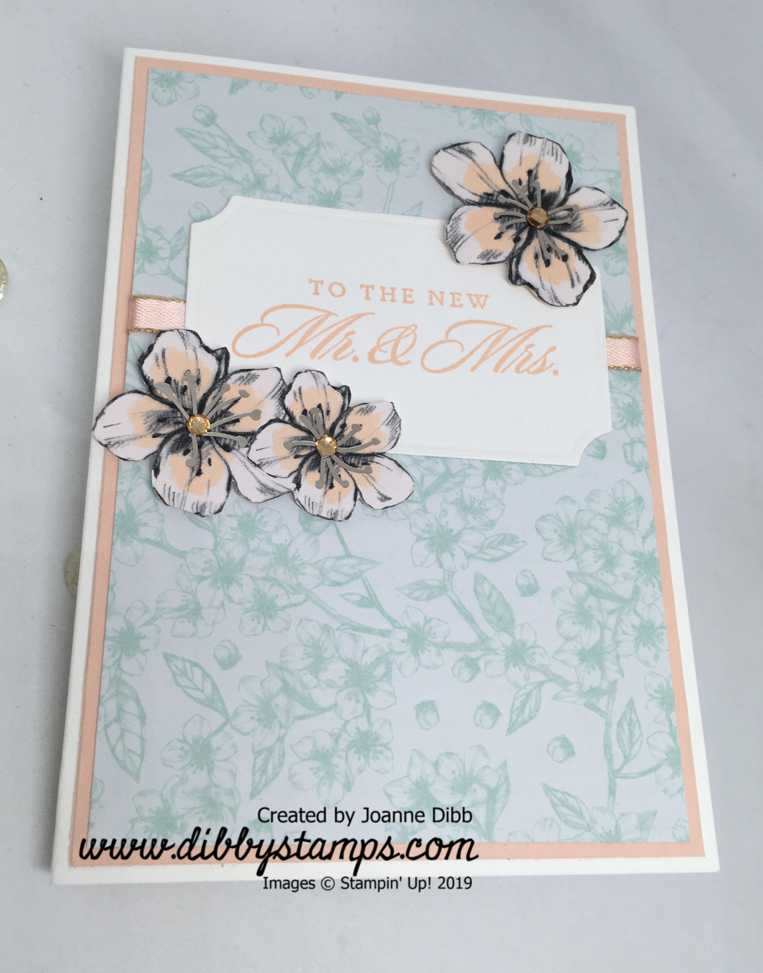 Parisian Blossoms Wedding Card - flat
