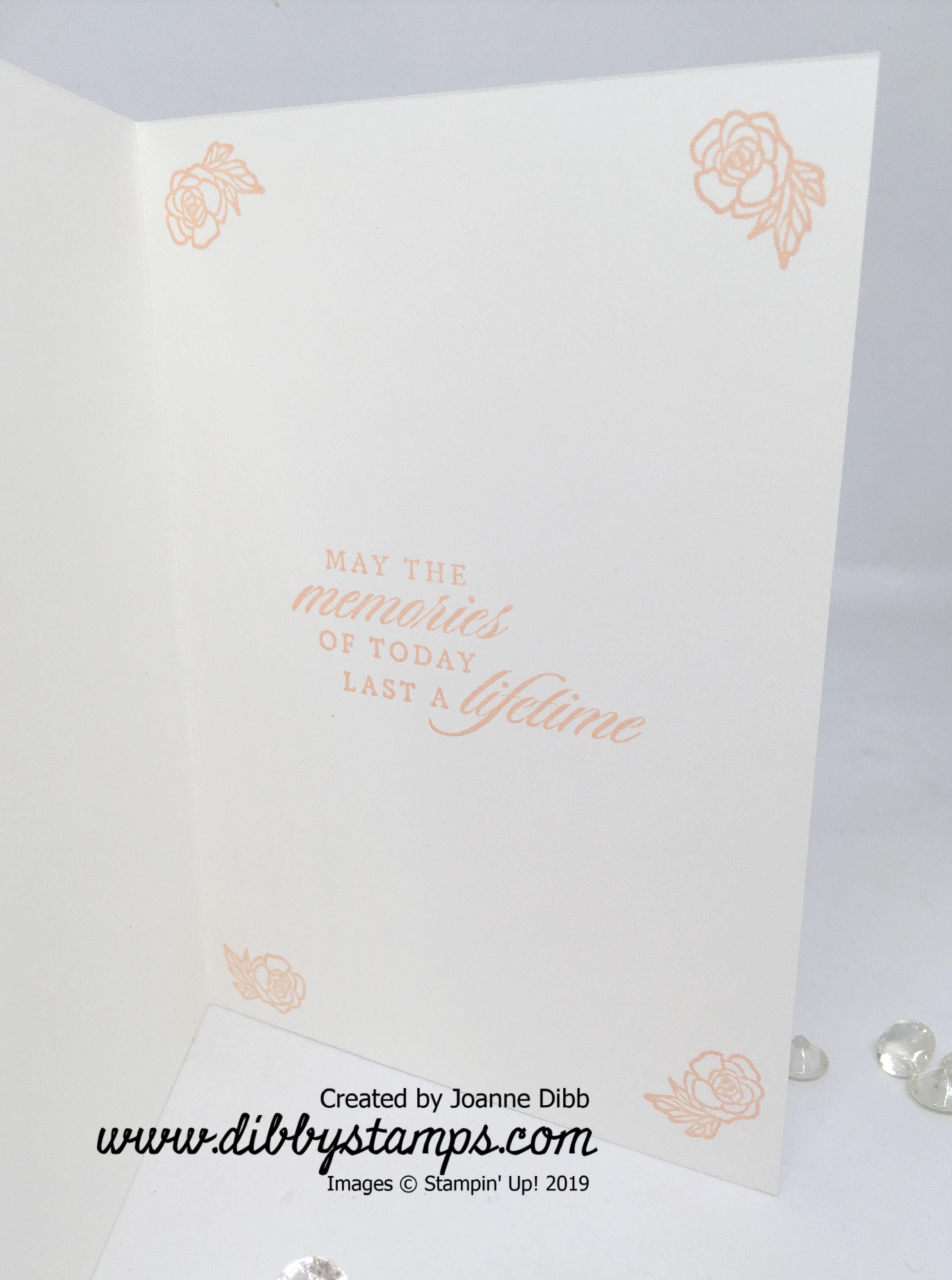 Parisian Blossoms Wedding Card Inside