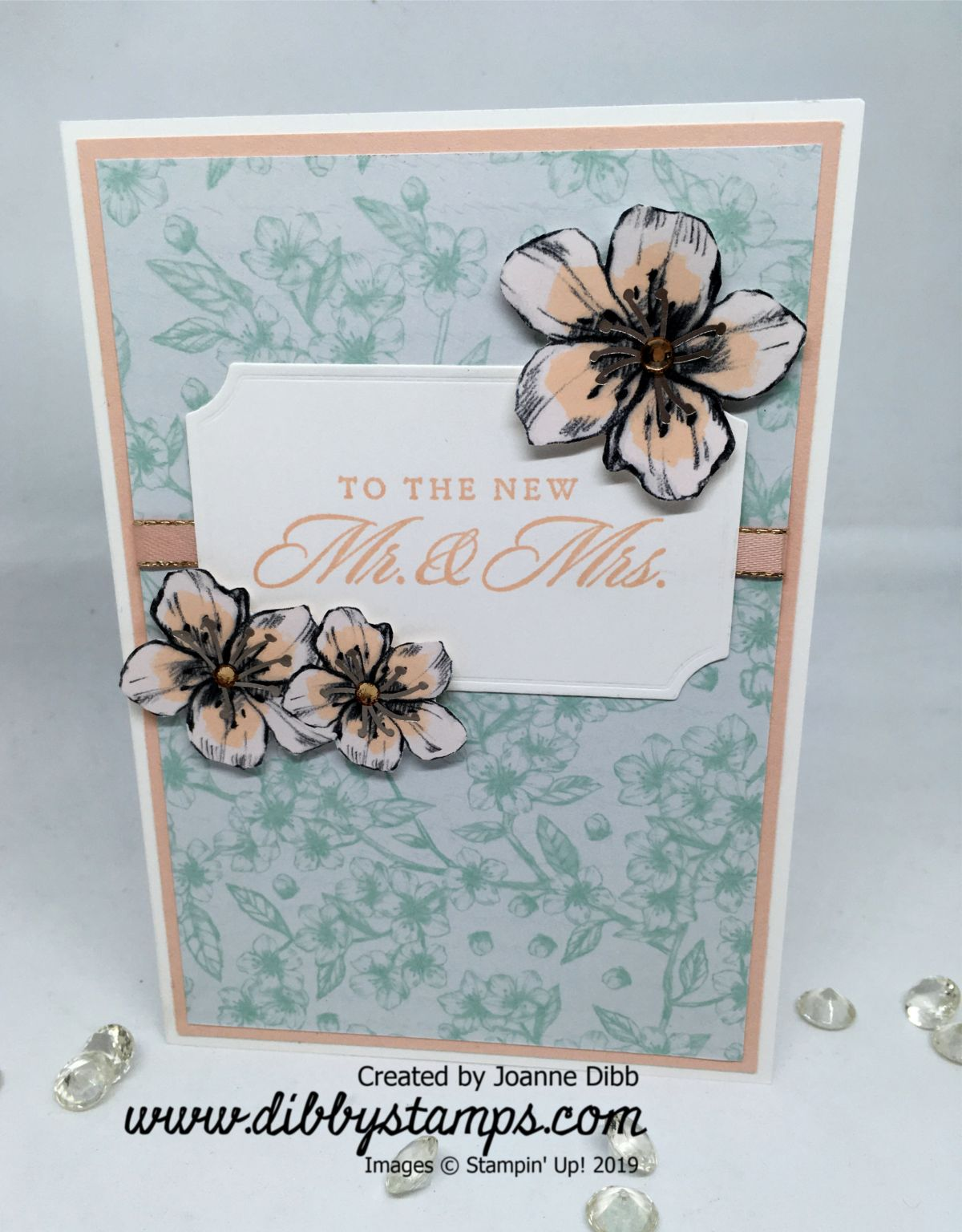 Wedding Card with Parisians Blooms