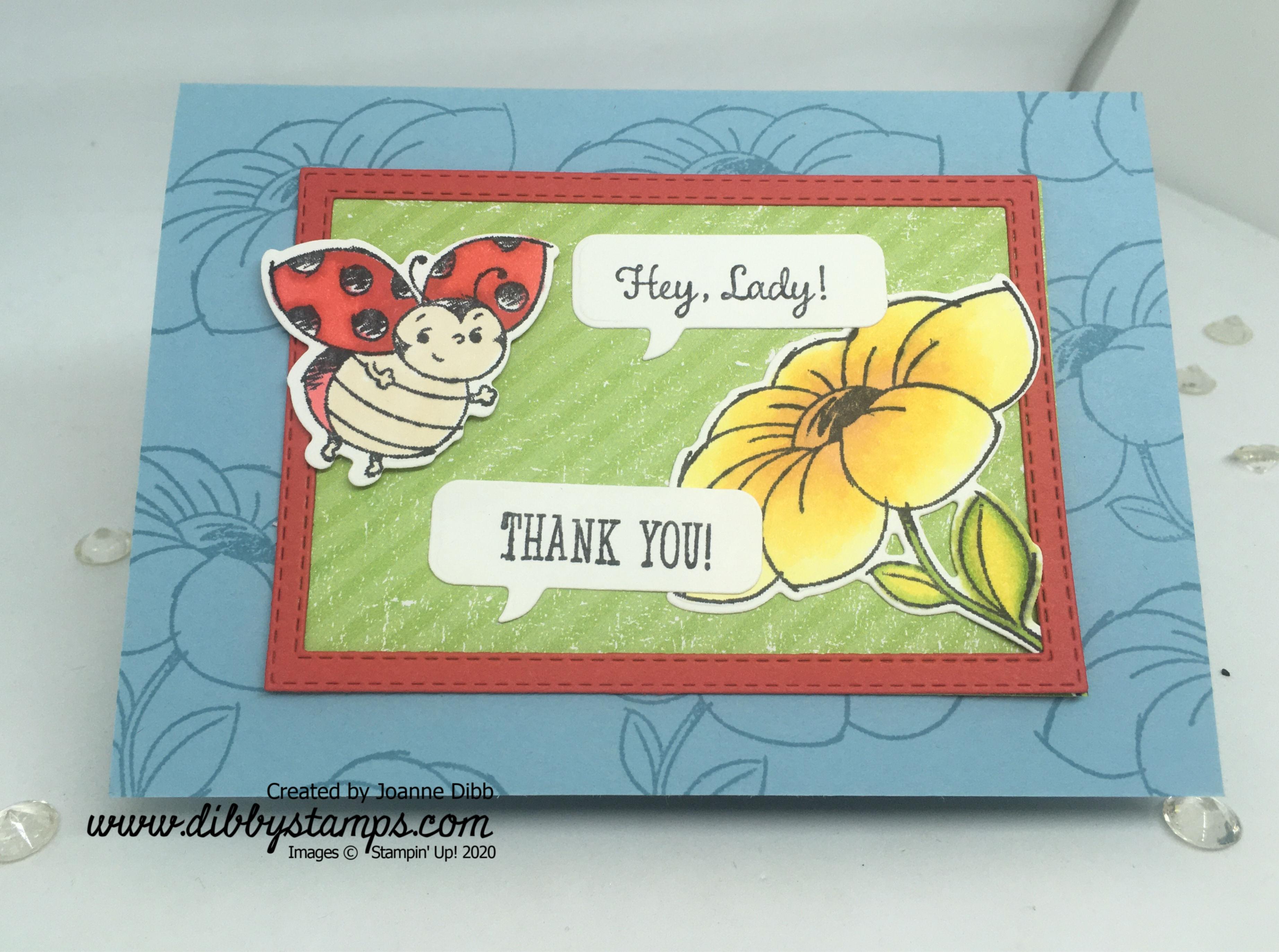 Hey Lady Thank You Card Flat