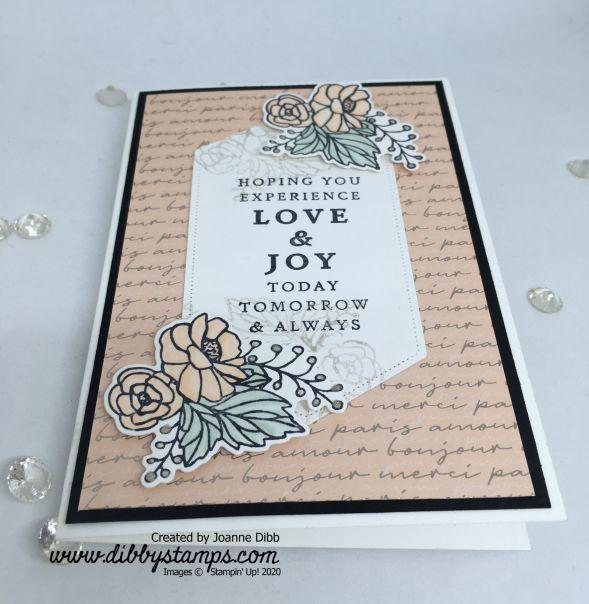 Petal Pink Lasting Love Card - flat