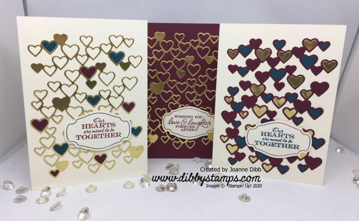 Three Card Thursday: Detailed Hearts Die