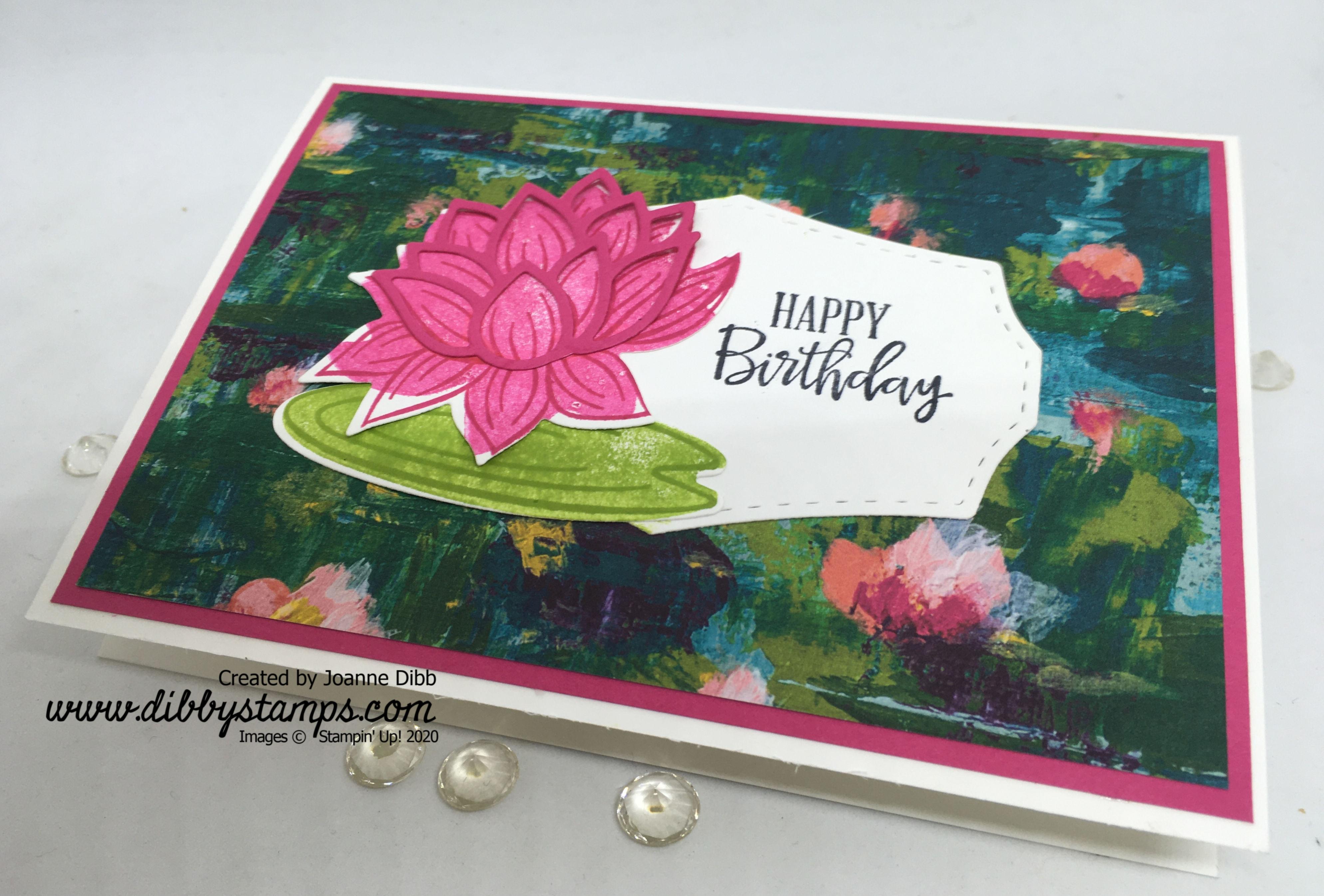 Lovley Lily Pad Birthday card - flat