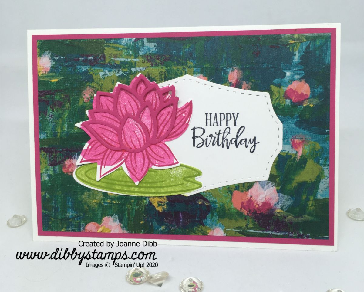 Lovely Lily Pad Birthday Card
