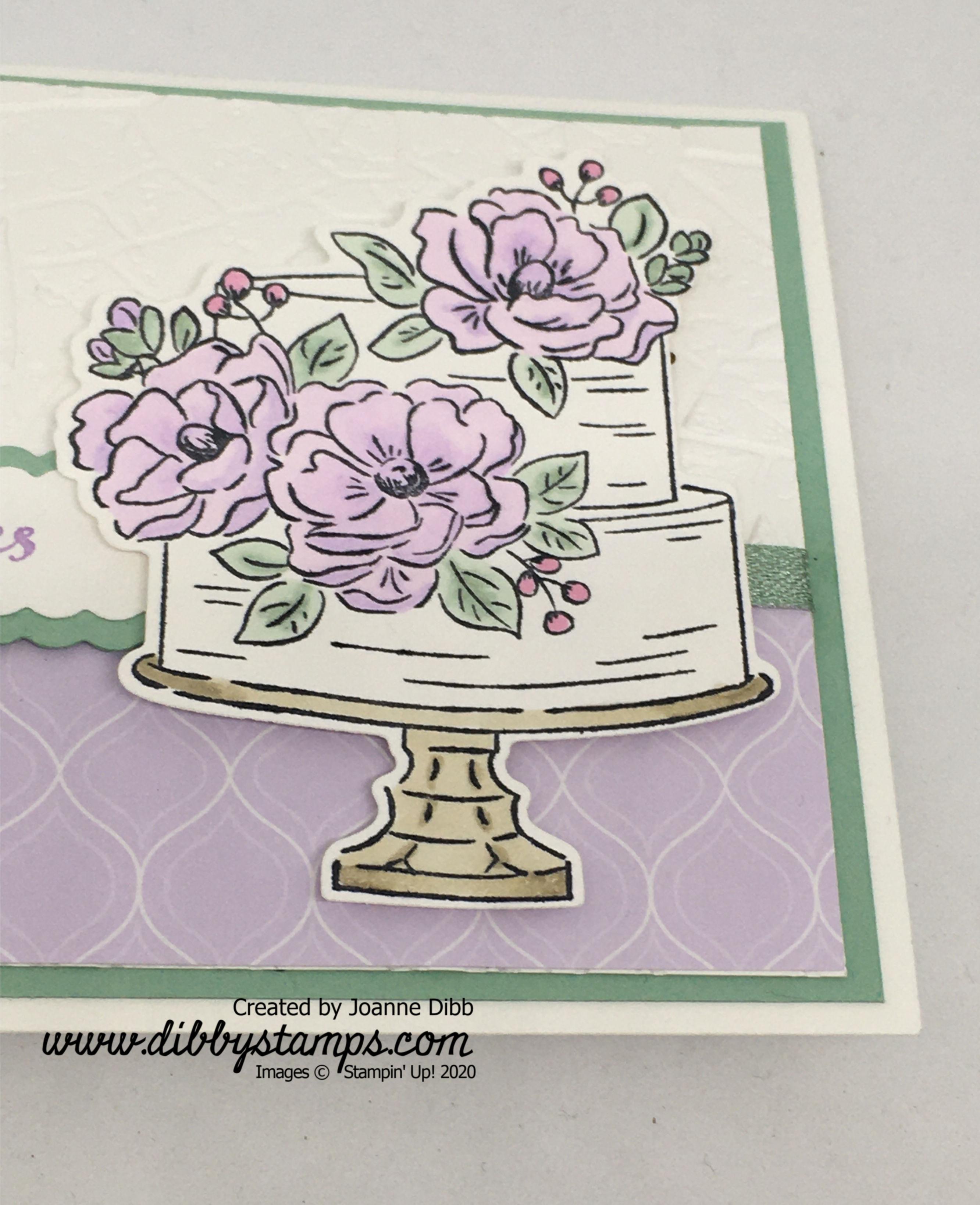 Purple Posy Floral Birthday Card - close up