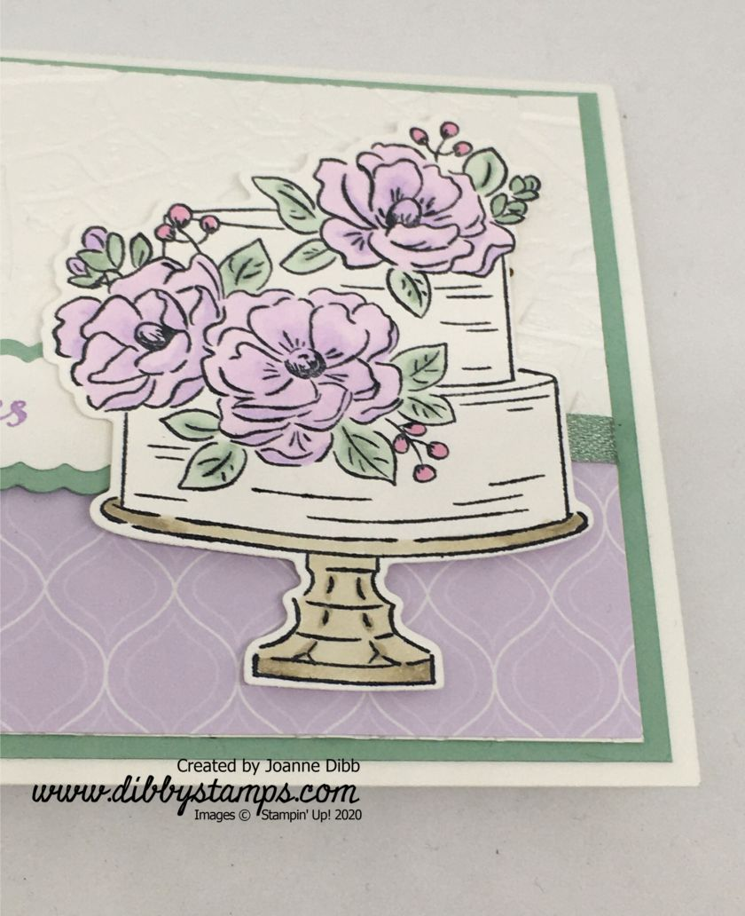 Purple Posy Floral Birthday Card - close up