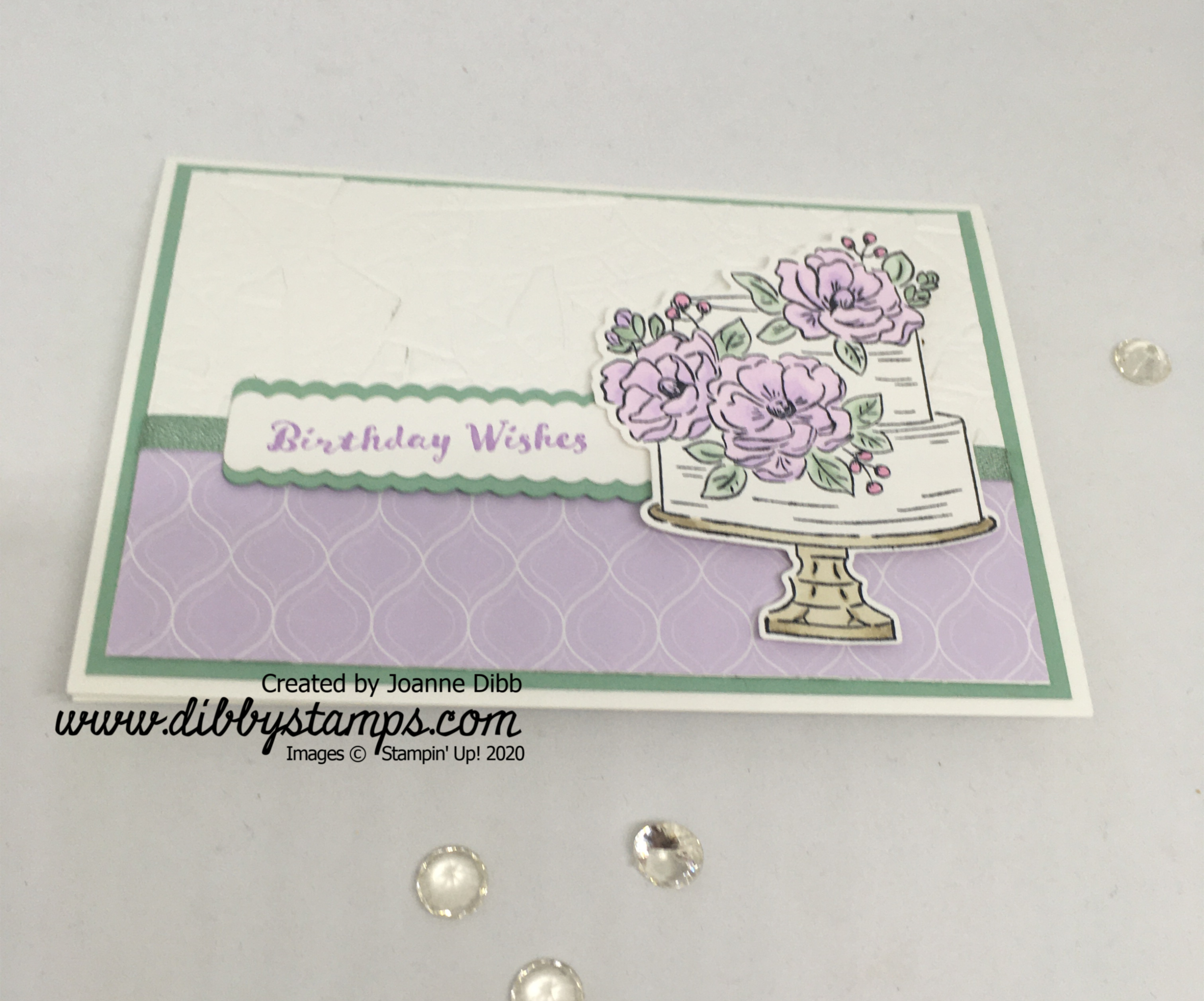 Purple Posy Floral Birthday Card - flat