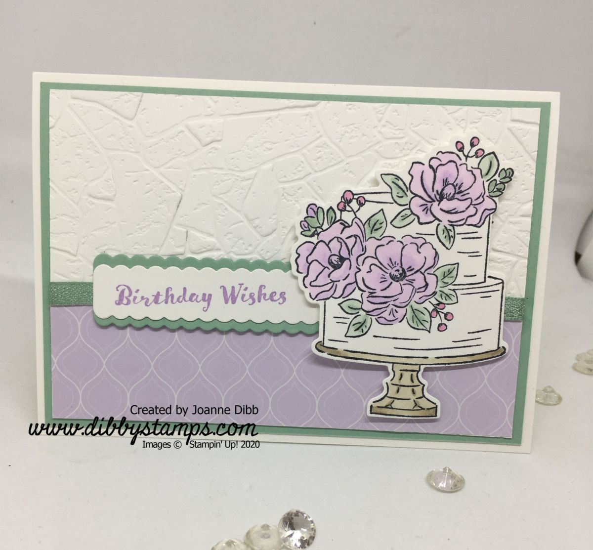 Purple Posy Floral Birthday Card