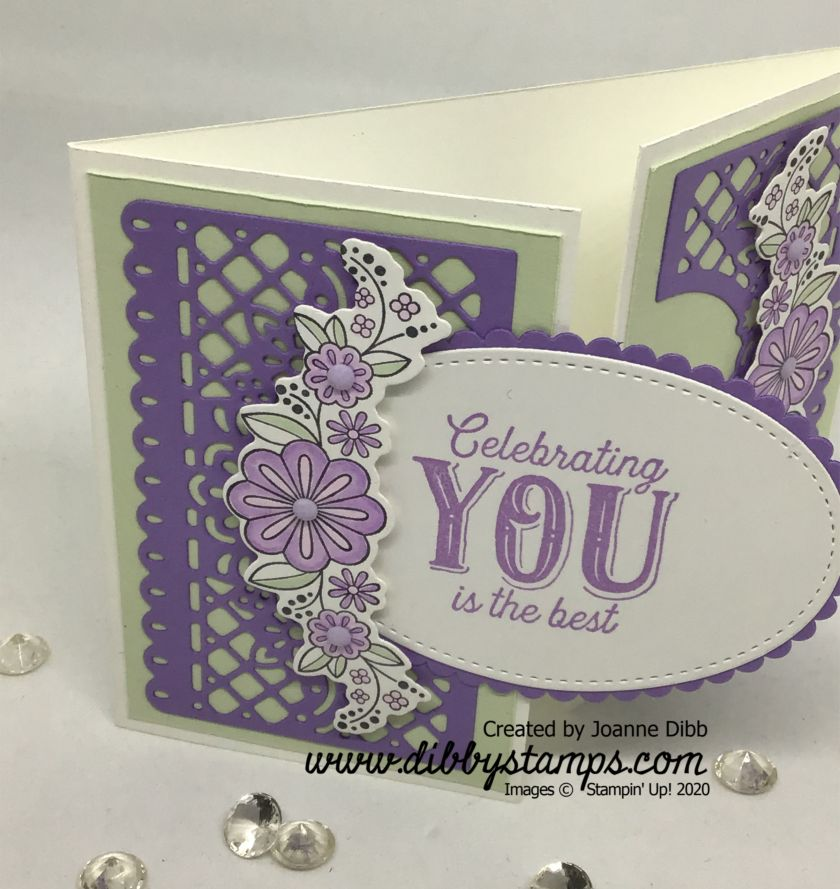 Floral Birthday Jubilee Card- close up