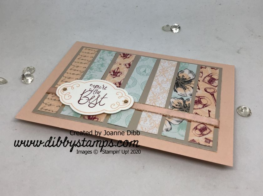 Parisian Blooms Strip Card - flat
