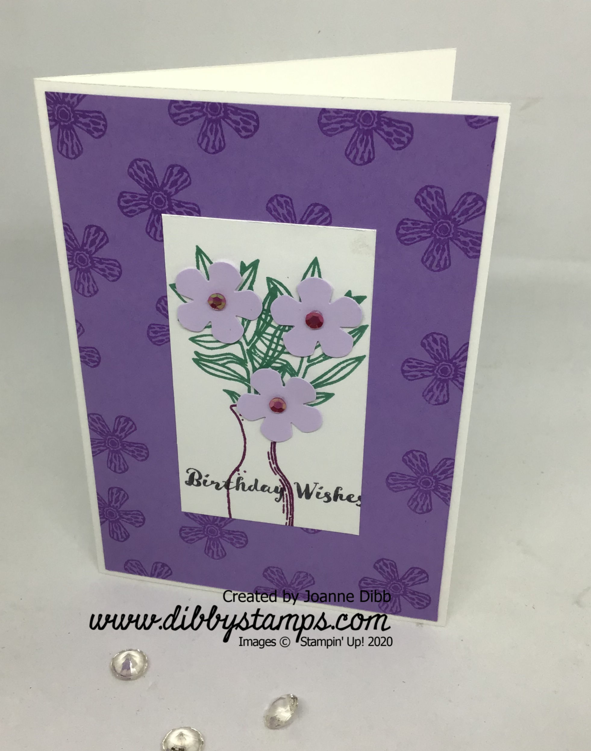 Basket of Blooms card 1