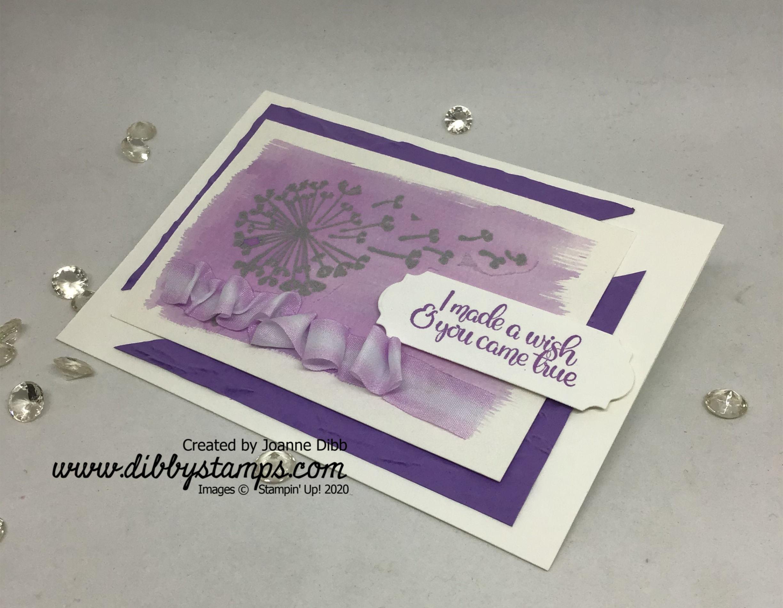 Dandelion Wishes Watercolour card flat