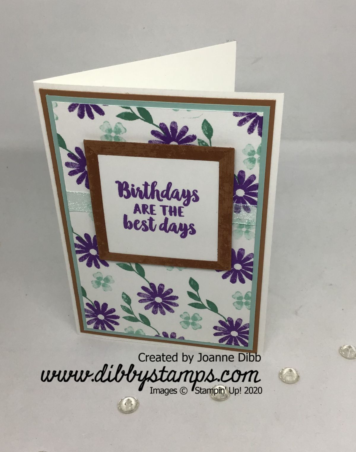 Floral Framed For You Card