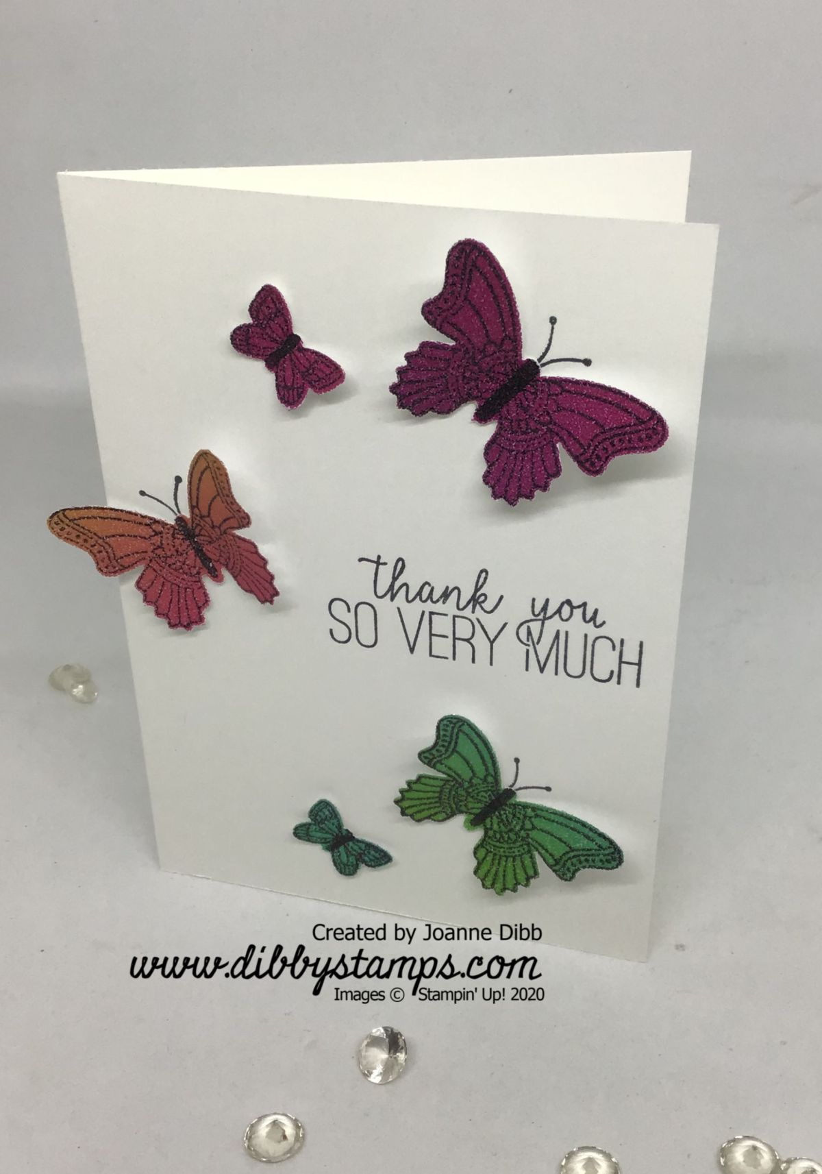 Simple Stamping: Rainbow Butterflies